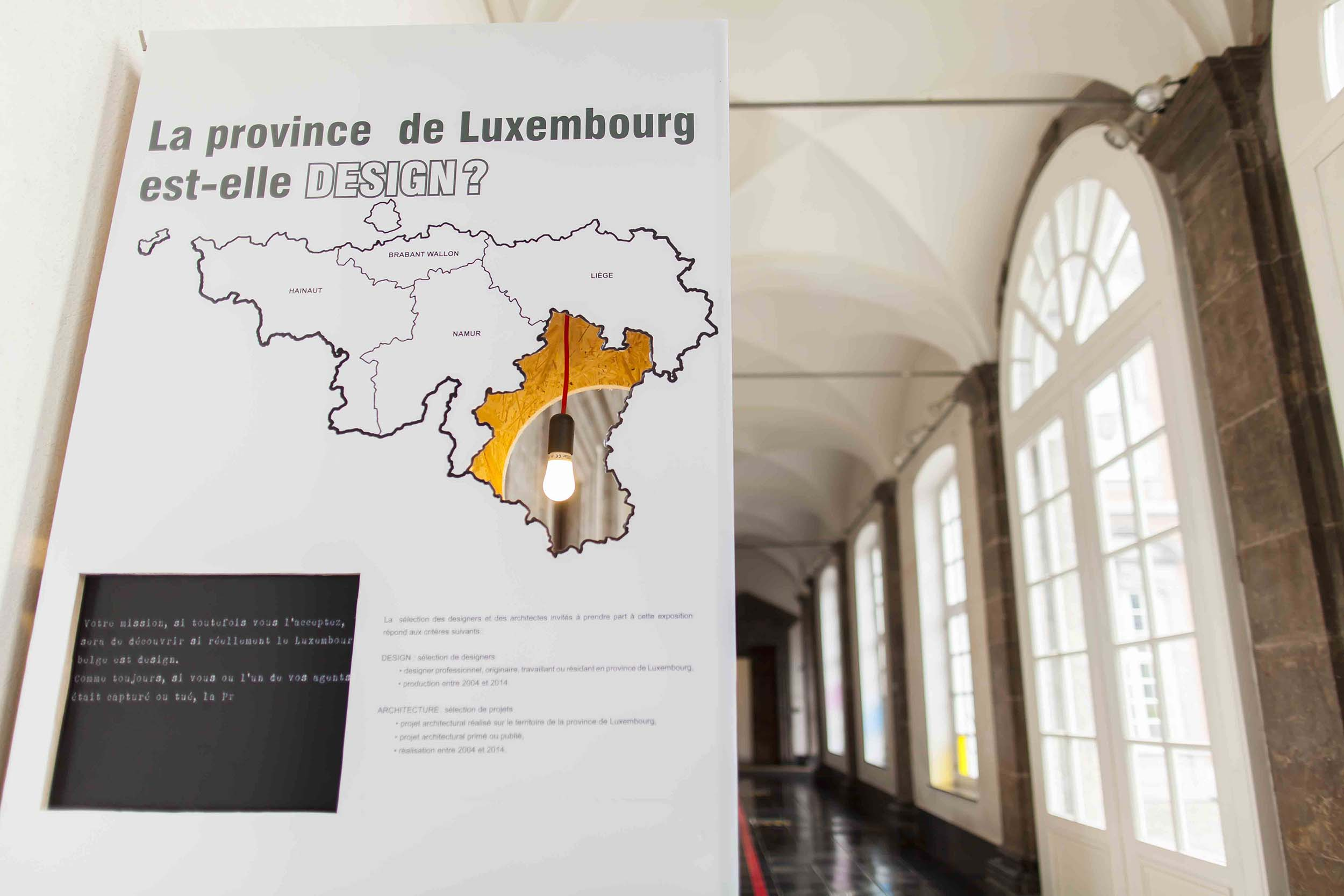 LA PROVINCE DE LUXEMBOURG EST-ELLE DESIGN?
