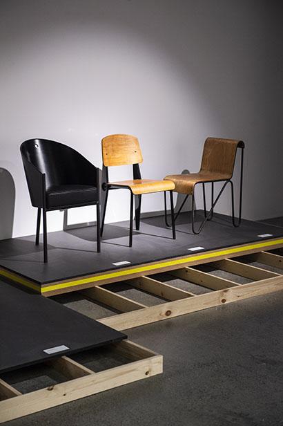 Musée du design de Bruxelles, exposition SPACES, scénographiée par stoz.design