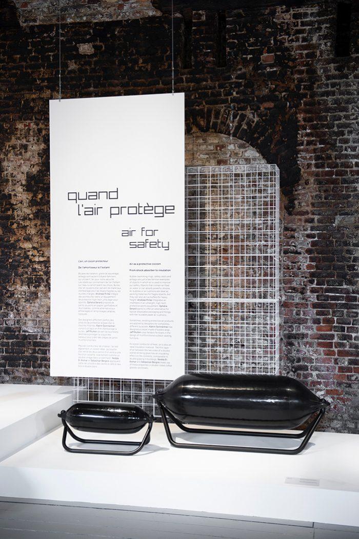 Scenography exhibition Design on Air, in Belgium. Benjamin Stoz